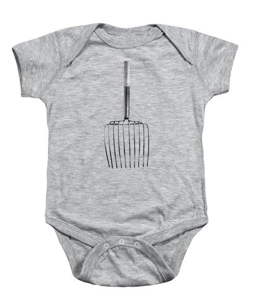 Ensilage Fork Down Baby Onesie by YoPedro