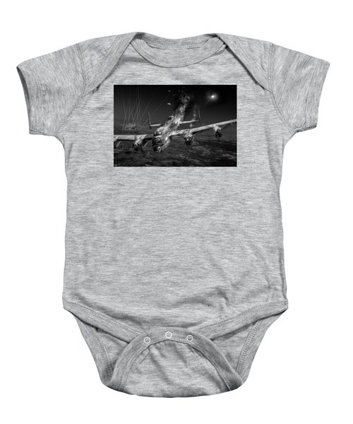 Escape At Mailly Black And White Version Baby Onesie