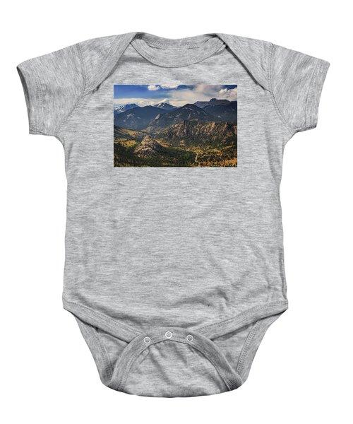 Estes Park Aerial Baby Onesie