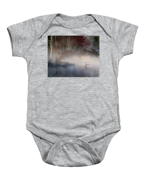 Baby Onesie featuring the photograph Ethereal Goose by Bill Wakeley