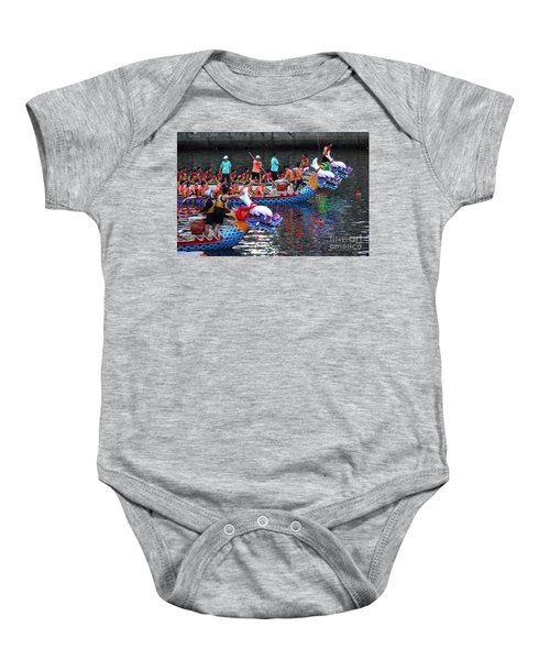 Evening Time Dragon Boat Races In Taiwan Baby Onesie