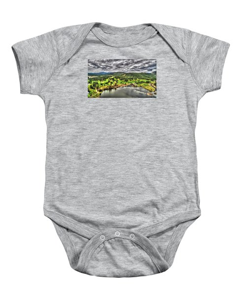 Evergreen Lake And Golf Course Baby Onesie
