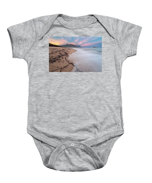 Explosion Of Colors On The Beach Baby Onesie
