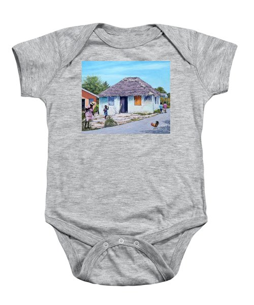Exuma Thatch Hut Baby Onesie