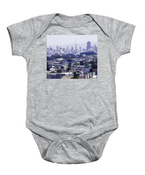 Looking East Toward San Francisco Baby Onesie