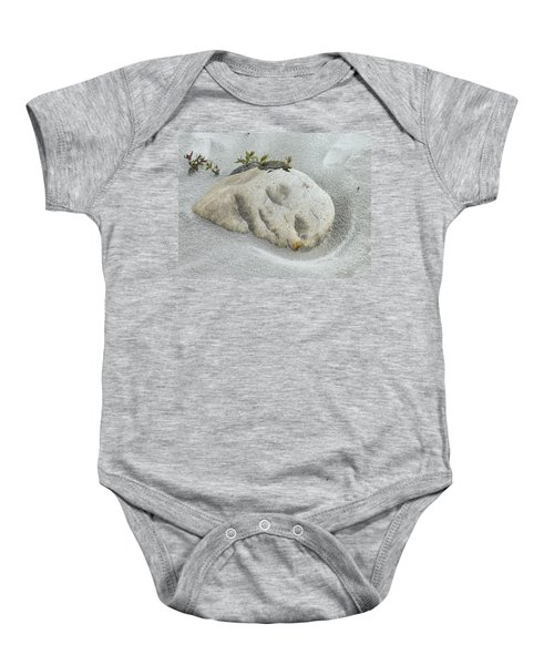 Face In The Sand At Baird Glacier Outwash Baby Onesie