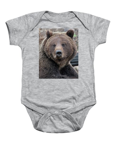 Face Of The Grizzly Baby Onesie