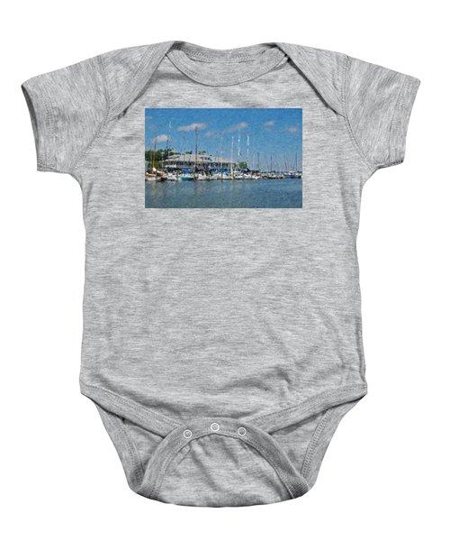 Fairhope Yacht Club Impression Baby Onesie