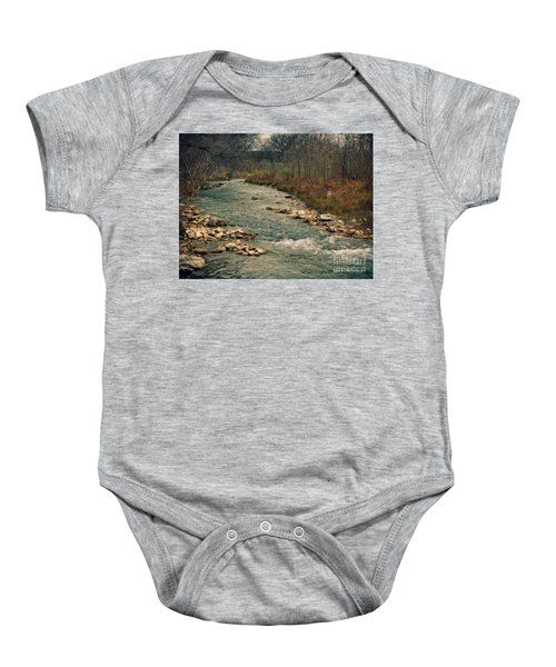 Fall Along The River Baby Onesie