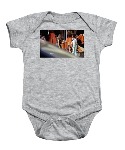 Fall Colors And Bus Riders Baby Onesie
