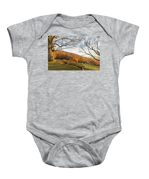 Fall Colors At The Moses Cone Estate Baby Onesie