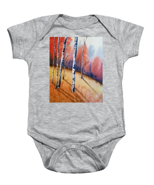 Fall In The Birches Baby Onesie