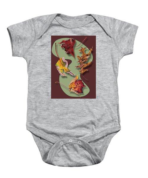Fall Leaves Card Baby Onesie