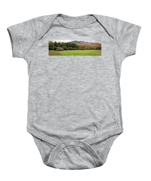 Farewell Red Barn Baby Onesie