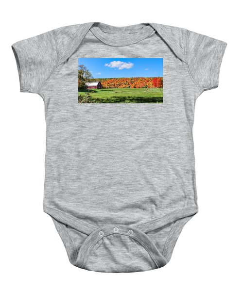 Farm View From Russellville Road Baby Onesie