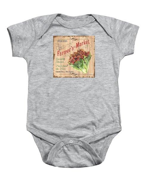 Farmer's Market Sign Baby Onesie by Debbie DeWitt