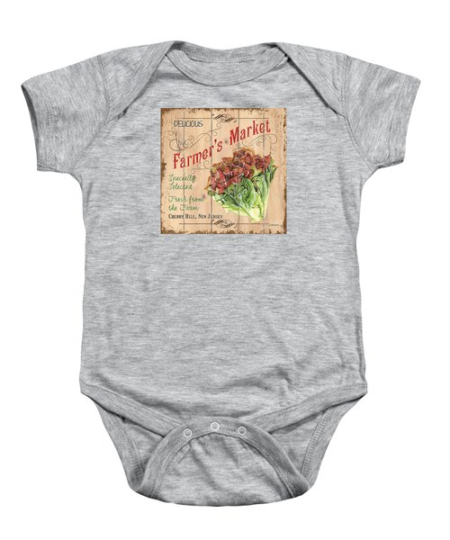 Farmer's Market Sign Baby Onesie