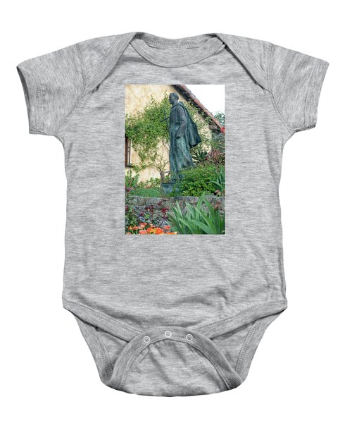 Father Junipero Serra Statue At Mission Carmel Baby Onesie