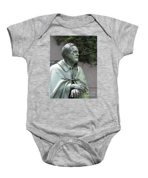 Fdr Statue At His Memorial In Washington Dc Baby Onesie