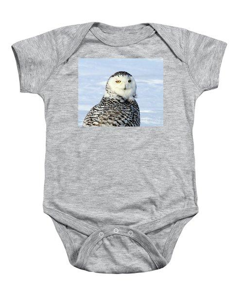 Female Snowy Owl Baby Onesie