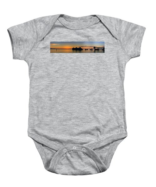 Ferry Boat Arrives To Mukilteo Ferry Terminal Baby Onesie