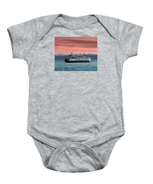 Ferry Cathlamet At Dawn.1 Baby Onesie