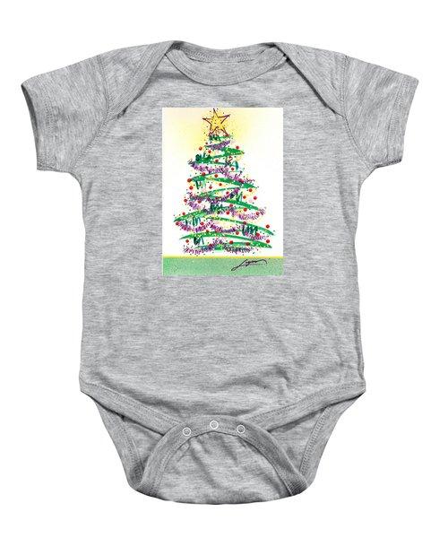 Festive Holiday Baby Onesie