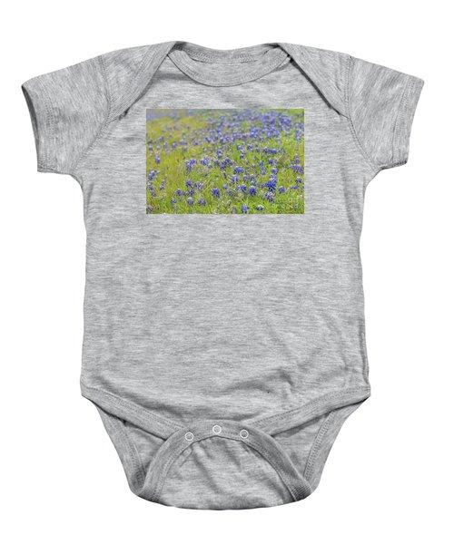 Field Of Blue Bonnet Flowers Baby Onesie