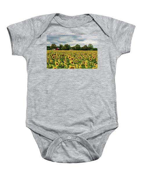Field Of Sunshine Baby Onesie