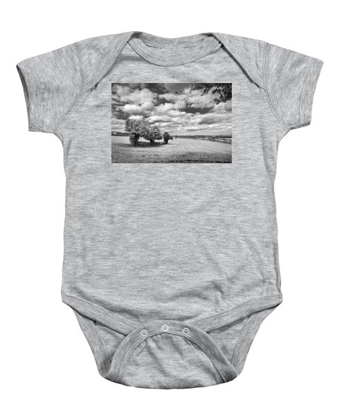 Fields And Clouds Baby Onesie
