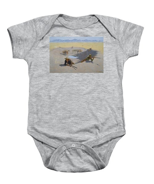 Fight For The Waterhole Baby Onesie