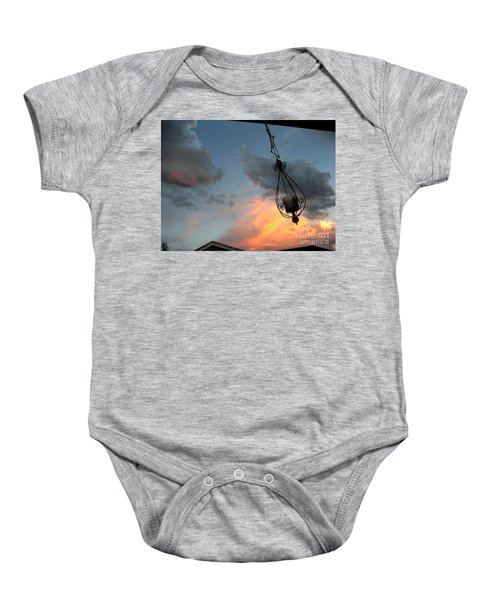 Fire In The Clouds Baby Onesie