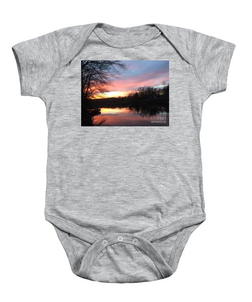 Fire On The Water Baby Onesie