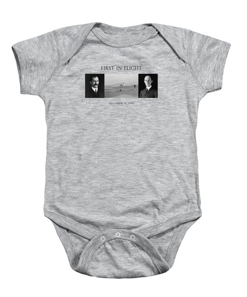 First In Flight - The Wright Brothers Baby Onesie