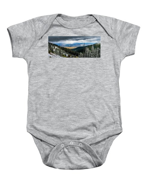First Snow, Jackson From Teton Pass Baby Onesie