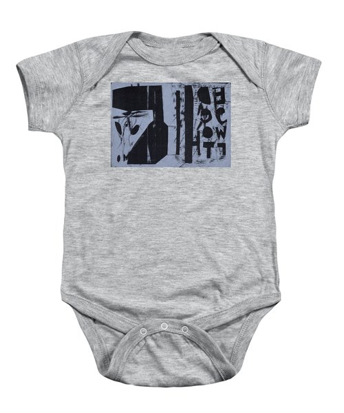 Fisher Covers Reverse White On Black Baby Onesie