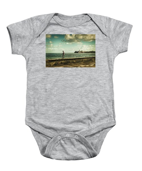 Fishing Along The Malecon Baby Onesie