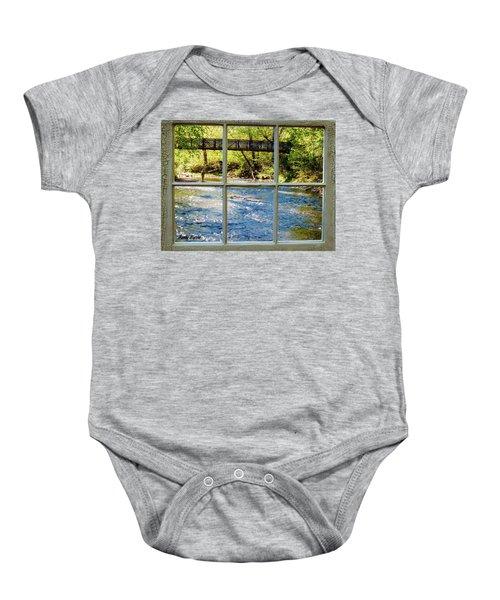 Fishing Window Baby Onesie