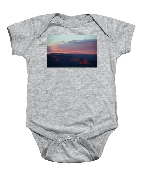Flagstaff's San Francisco Peaks Snowy Sunset Baby Onesie
