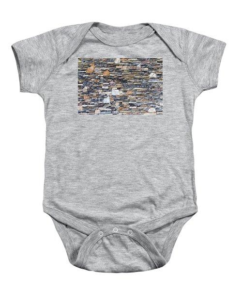 Flagstone Wall Baby Onesie