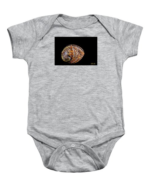 Baby Onesie featuring the photograph Flame Abalone by Rikk Flohr