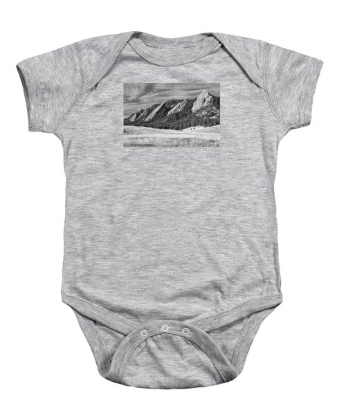 Flatiron Morning Light Boulder Colorado Bw Baby Onesie