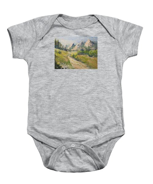 Flatirons In The Rockies Baby Onesie