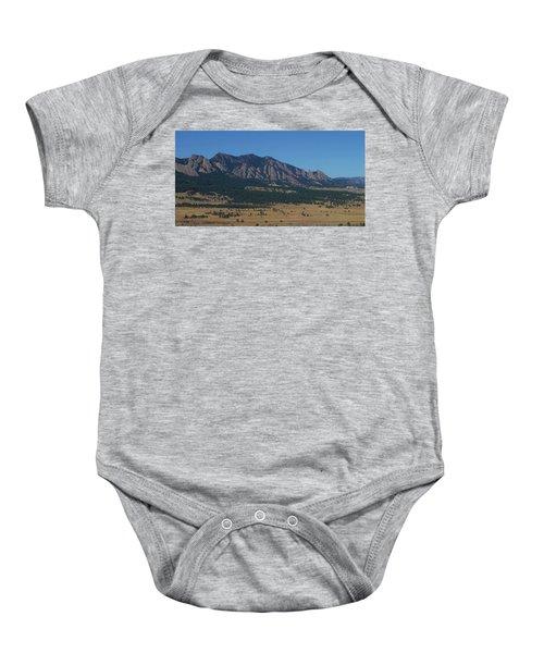 Flatirons Of Boulder Baby Onesie