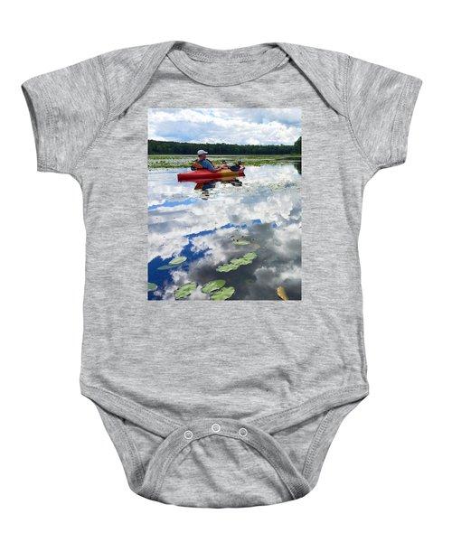 Floating In The Sky Baby Onesie