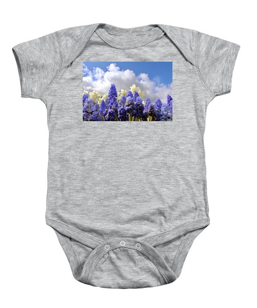 Flowers And Sky Baby Onesie