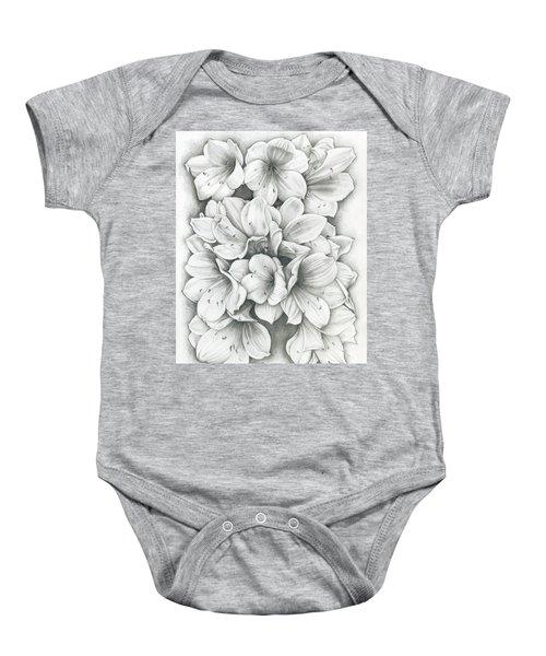 Clivia Flowers Pencil Baby Onesie
