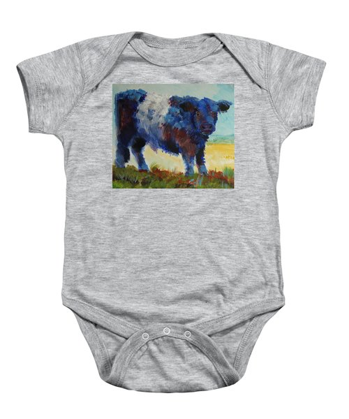 Fluffy Shaggy Belted Galloway Cow - Cow With A White Stripe Baby Onesie
