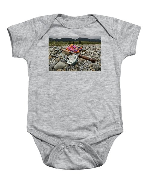 Fly Rod And Streamers Landscape Baby Onesie