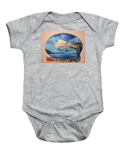 Flying Egret Baby Onesie